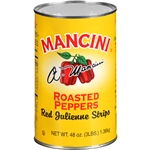 Mancini Red Roasted Julienne 48 oz. Pepper Strips