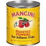 Mancini Red Roasted Julienne 28 oz. Pepper Strips