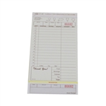 National Checking Carbonless Guest Check Tan 15 Lines - 4.2 in. x 8.02 in.