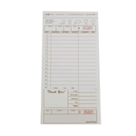 National Checking Carbonless Guest Check Paper Tan 2 Part - 4.2 in. x 8.5 in.