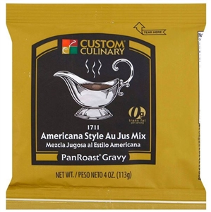 Custom Culinary Panroast Americana Au Jus Mix Gravy - 4 Oz.