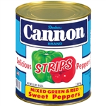 Cannon Mixed Green and Red Pepper Strips - 102 Oz.