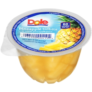 Dole Pineapple Tidbits In Juice - 4 Oz.