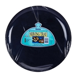Polystyrene Round Black Serving Tray - 12 in.
