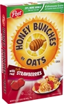 Post Cereal Honey Bunches Of Oats Strawberry - 13 Oz.