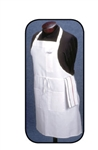 Arden Benhar White 2 Pocket Chef Bib Apron
