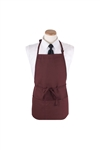 Chef Burgundy 3 Pocket Bib Apron