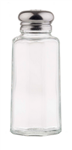 Tablecraft Stainless Steel Top Glass Salt and Pepper Shaker 2 Oz.
