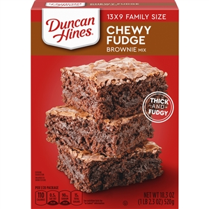 Pinnacle Duncan Hines Chewy Fudge Family Size Brownie Mix - 18.3 Oz.