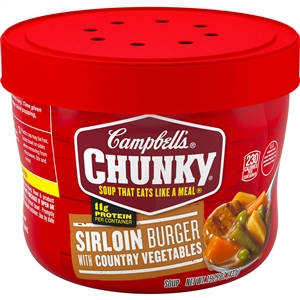 Campbell's Chunky Bowl Sirloin Burger Soup 15.25 Oz.
