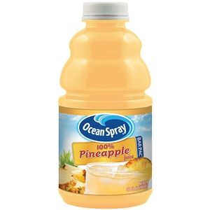 Ocean Spray 100 Percentage Pineapple Juice Bar In a Bottle - 32 Oz.