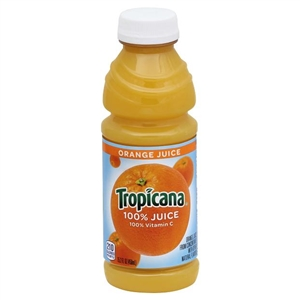Pepsico Tropicana Orange Juice Plastic Bottle - 15.2 Oz.