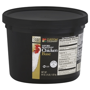 Custom Culinary Gold Label Savory Roasted Chicken Base No Msg Added 4 Lb.