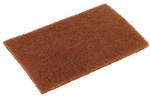 Glit Disco Walnut Scouring Pad Brown - 6 in. x 9 in.