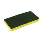 Disco Medium Duty Sponge and Scrubber Green - 5.8 in. x 6.25 in.