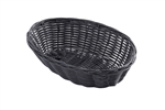 Tablecraft Woven Basket Black - 9 in. x 6 in. x 2.25 in.