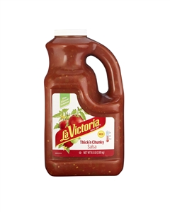 Megamex La Victoria Alamo Street Salsa Thick and Chunky Medium - 1 Gal.