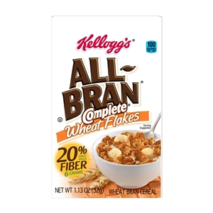Kelloggs All Bran Complete Wheat Flakes Cereal - 1.13 Oz.