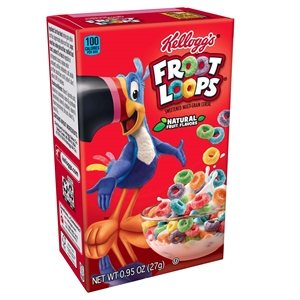 Kelloggs Froot Loops Cereal - 0.95 Oz.