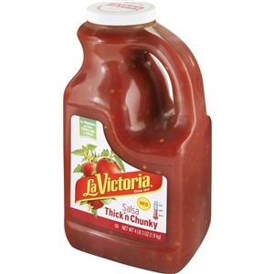 Megamex La Victoria Salsa Thick and Chunky Medium Retail - 67 Oz.