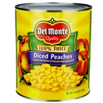 Del Monte Lite Diced In Pear Juice Peaches Yellow Packed - 105 Oz.