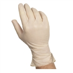 Latex Powdered Medium Glove Ivory