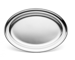 Stainless Oval Tray - 16.31 in. x 11.19 in.
