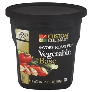 Custom Culinary Gold Label Savory Vegetable Base No Msg Added - 1 Lb.