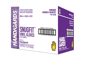 Handgards Small Vinyl Powder Free Glove Clear