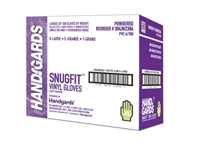 Handgards Extra Large Vinyl Disposable Glove Clear