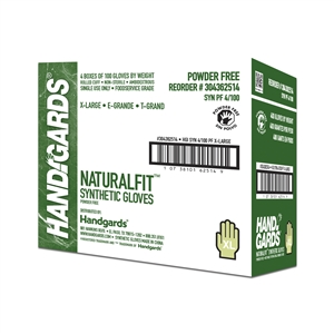 Handgards Extra Large Synthetic Powder Free Glove White