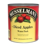 Musselmans Diced Apples Water Packed - 108 Oz.