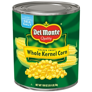 Narrow Base Whole Kernal Golden Supersweet Corn - 106 oz.