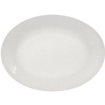 Porcelana Rolled Edge Oval Platter - 13.5 in.