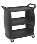 Small Bussing and Transport Cart Black - 18 in. x 36 in.
