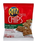 Kraft Nabisco Ritz Chips Sour Cream and Onion Cracker - 1.75 Oz.
