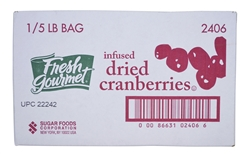 Sugar Foods Fresh Gourmet Infused Cranberries - 5 Lb.