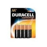 Procter and Gamble Duracell Coppertop AA Size 4 Pack Battery