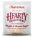 Malt-O-Meal Hearty Traditions Instant Oat Maple and Brown Sugar Cereal