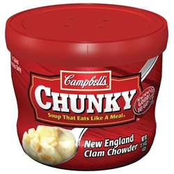 Campbell's Chunky New England Clam Chowder Bowl Soup 15 Oz.