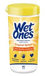 Wet Ones Citrus Antibacterial Wipes 40 Count