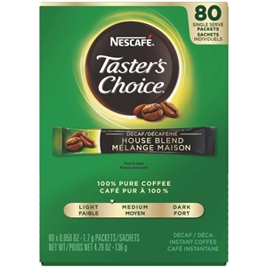 Nestle Tasters Choice Stick Pack Decaffeinated Coffee Single Serve
