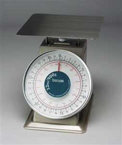 Taylor 32 Oz. Stainless Steel Platform Scale - 9 in. x 9in.