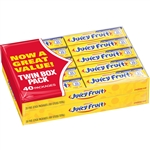 Wrigleys Juicy Fruit Bubble Gum 20 Twin Pack