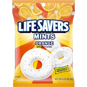 Wrigleys Life Saver Orange Mint - 6.25 Oz.