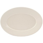 Princess White Rolled Edge Platter - 13.5 in.