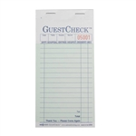 National Checking Guest Check Carbon Green 17 Lines - 3.5 in. x 6.75 in.