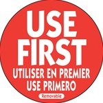 National Checking Trilingual Use First Removable Label - 2 in.