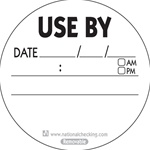 National Checking Circle Use By Removable Label - 3 in.