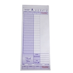National Checking Guest Check Carbonless Purple Two Part